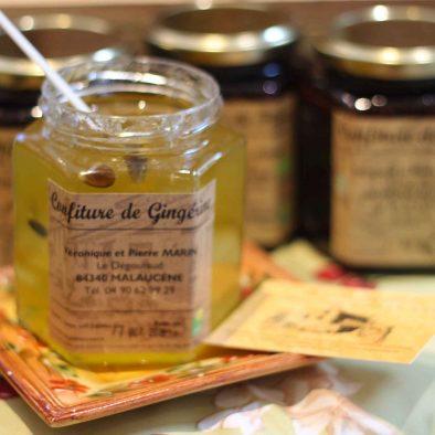 confiture au gingembre confectionné par la ferme de degoutaud
